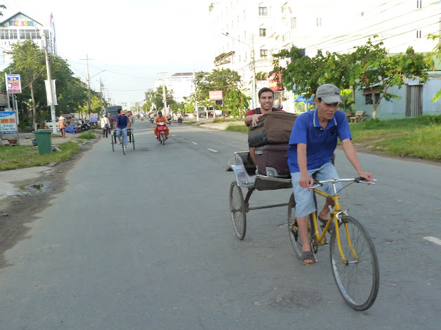 Bici taxi en Chau Doc (Vietnam)