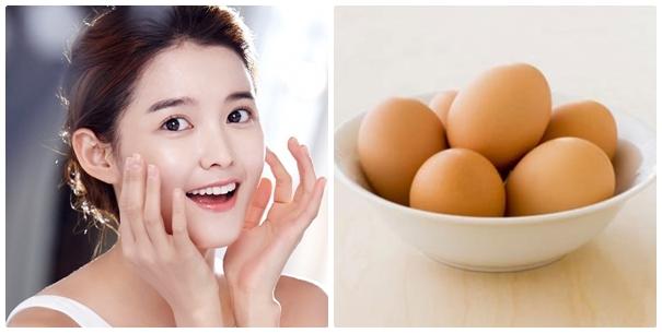 trứng trị mụn hiệu quả