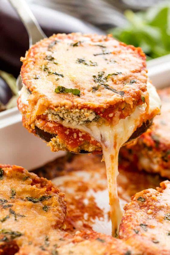 BEST BAKED EGGPLANT PARMESAN #bakingrecipes #eggplant #parmesan #vegetarian #vegetarianrecipes #veggies #veganrecipes #vegan