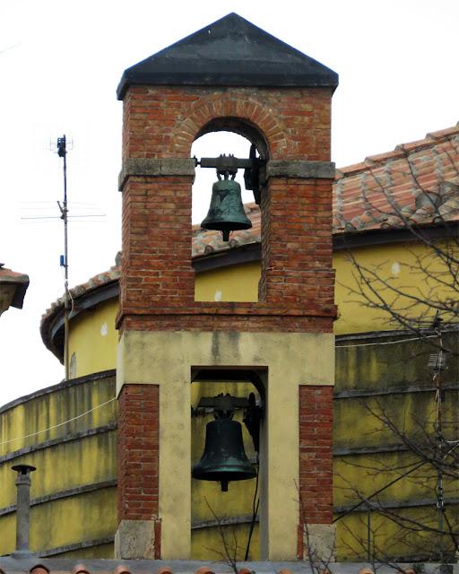 The bell gable of Santa Maria del Soccorso, Piazza della Vittoria, Livorno