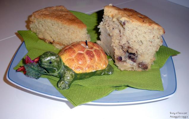 Ciambella alle noci e gorgonzola e torta all'acqua