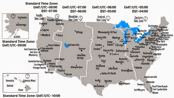 Geography Blog US Maps Time Zones Us Timezone Map With Roads Time