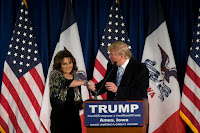Donald Trump is said to be considering former Alaska Gov. Sarah Palin for several administration posts including Secretary of Interior. (Credit: Getty Images) Click to Enlarge.