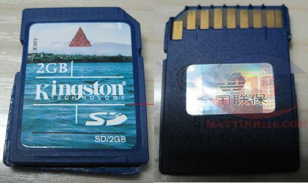 Cứu dữ liệu thẻ nhớ 2Gb Kingston không nhận