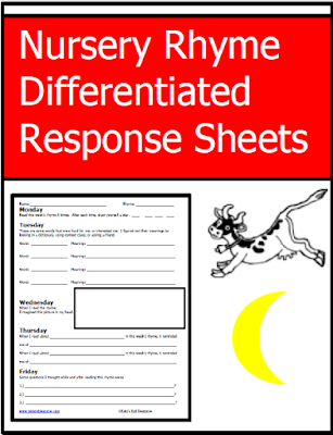 Free nursery rhyme response sheet that works on reading comprehension skills - from Raki's Rad Resources.