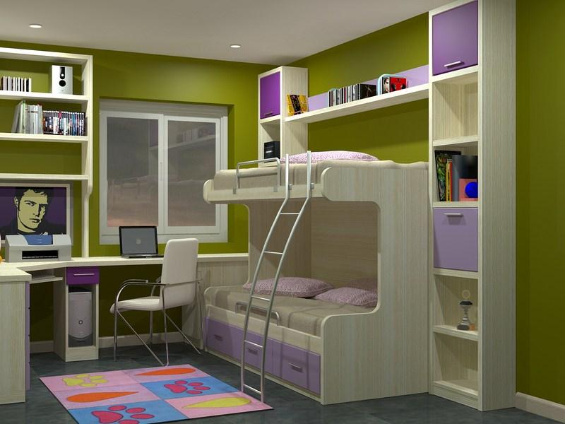 Literas para jovenes gallery of cuando el dormitorio es - Camas modernas para jovenes ...