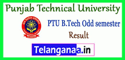 PTU Punjab Technical University 7th 5th 3rd 1st Semester B.Tech Result