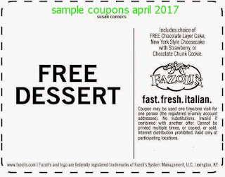 free Discount coupons april 2017