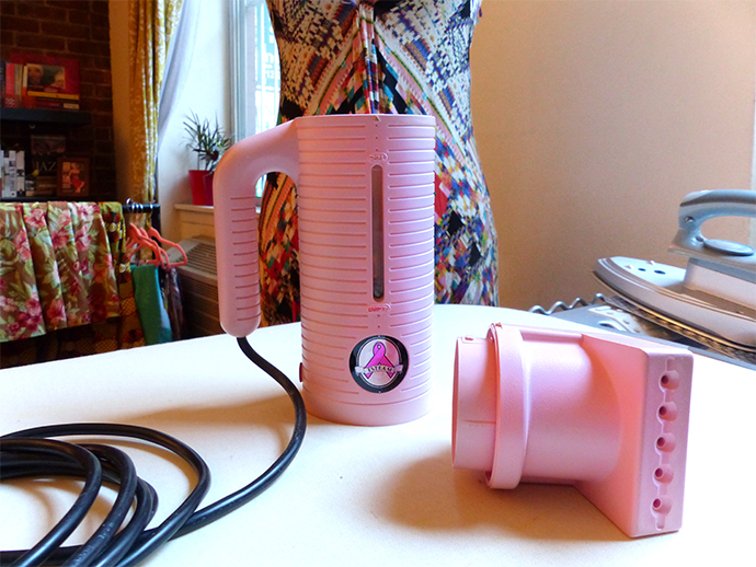 oonaballoona | a sewing blog | The Pink Handheld Steamer: Confusing Non-Sewists Everywhere.