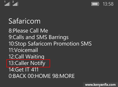 caller notify