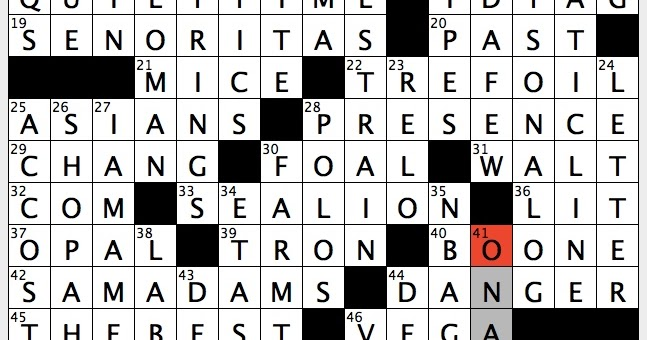 Rex Parker Does The Nyt Crossword Puzzle Three Lobed Design Sat 2