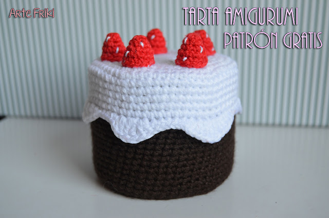 tarta amigurumi patron gratis cake amigurumi free pattern sweet dulces crochet ganchillo reposteria cumpleaños birthday videotutorial