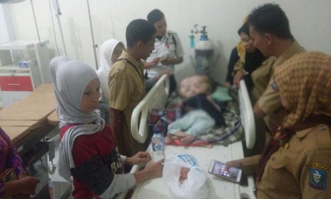 Malang! Rauf Penderita Hidrosefalus Terbaring Lemas di RS