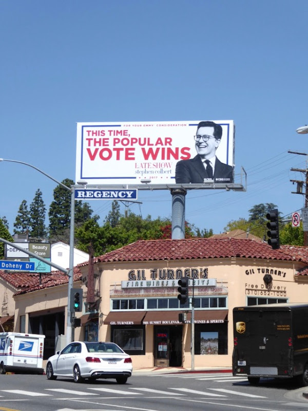 Late Show Stephen Colbert Emmy 2017 billboard