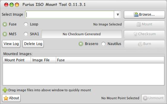 Furius ISO Mount Tool - Aplikasi Mounting File ISO, IMG, BIN, MDF, dan NRG