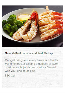 Red Lobster Menu July 7– September 25, 2017