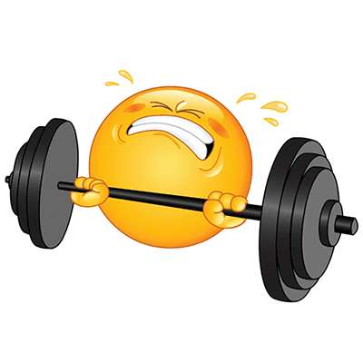 Emoji lifting weights