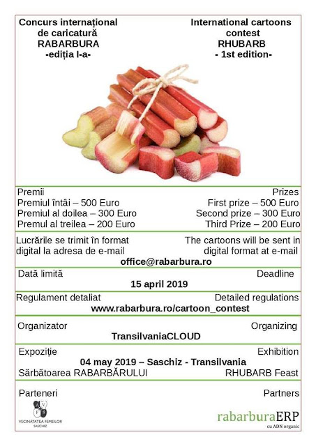 1st INTERNATIONAL RHUBARB CARTOONS CONTEST 2019 – SASCHIZ –TRANSILVANIA