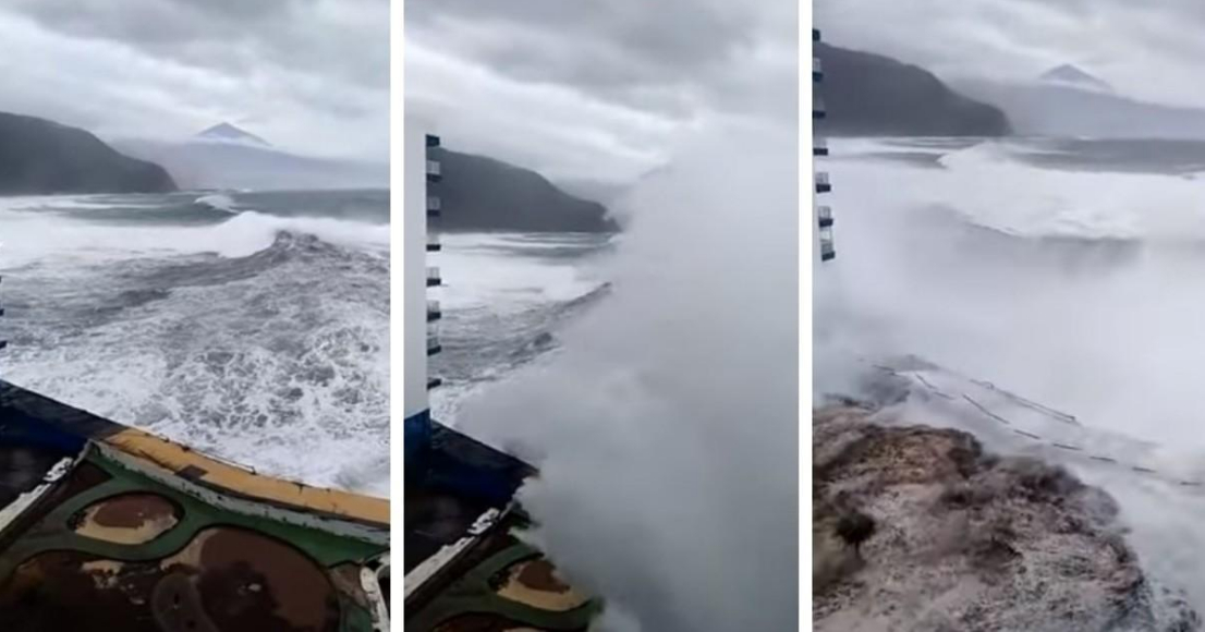 Incredibile Tenerife: Video Onde gigantesche di 6 metri a Mesa del Mar.