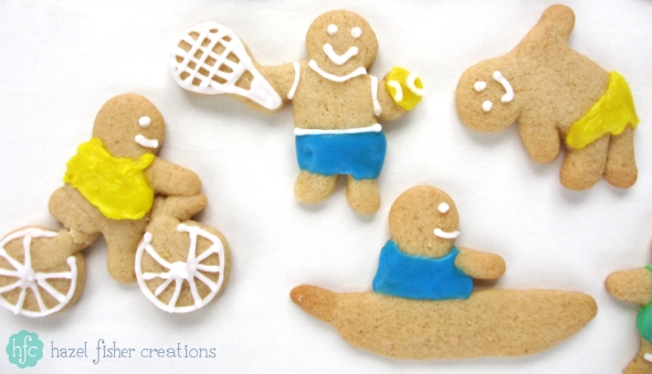 Gingerbread people baking recipe, sports for the Olympics - Hazel Fisher Creations