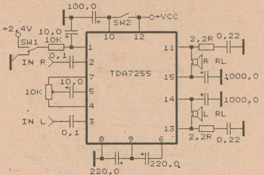unique amplifier circuit schmeatic based on ic tda7255 diy circuit rh avecircuits blogspot com
