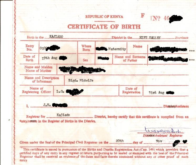 Sutos Tattoo: Kenyan Birth Certificate Obama