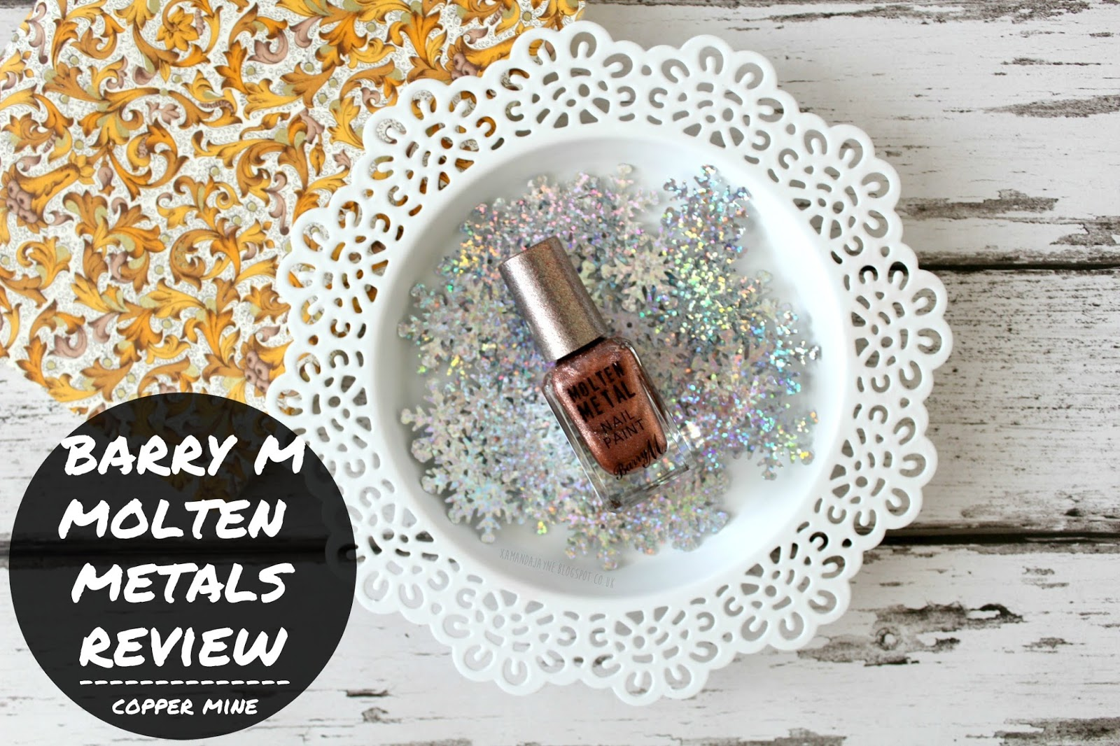 barry m cruelty free molten metals nail varnish review swatches copper mine