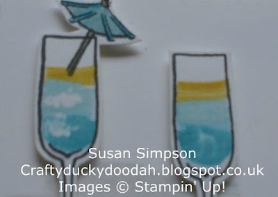 Stampin' Up! UK Independent  Demonstrator Susan Simpson, Craftyduckydoodah!, Mixed Drinks, Tutorial, Supplies available 24/7 from my online store,