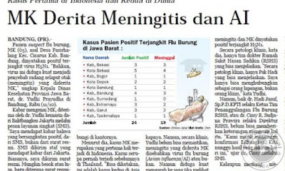 Kasus Meningitis dan Flu Burung Pertama di Indonesia