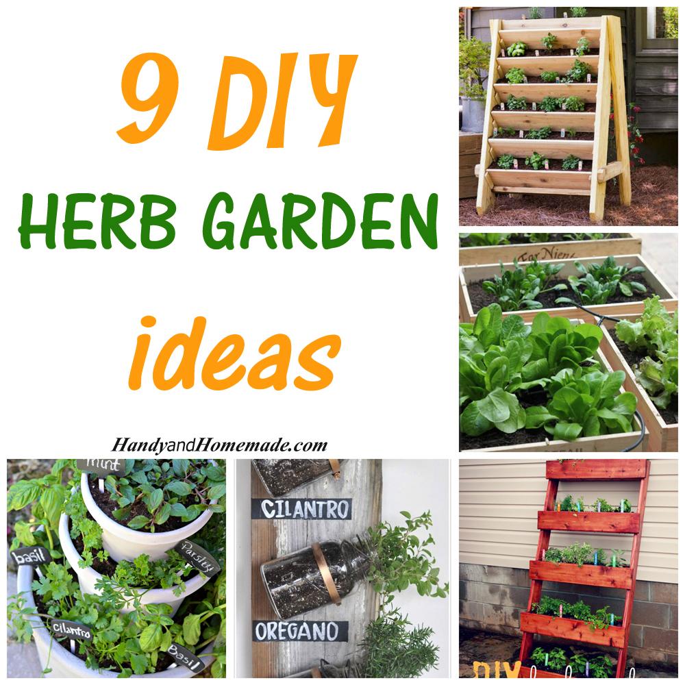 Patio Herb Garden Idea: 9 DIY Herb Garden Ideas