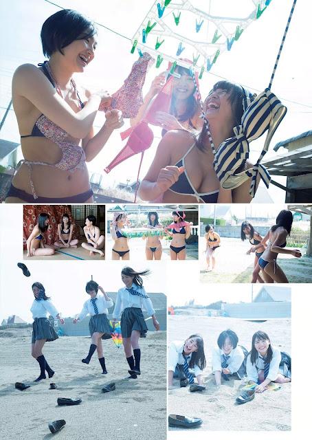 浅川梨奈 Asakawa Nana, 早乙女ゆう Saotome Yu, 松永有紗 Matsunaga Arisa WPB No 18 2016 Photos 2