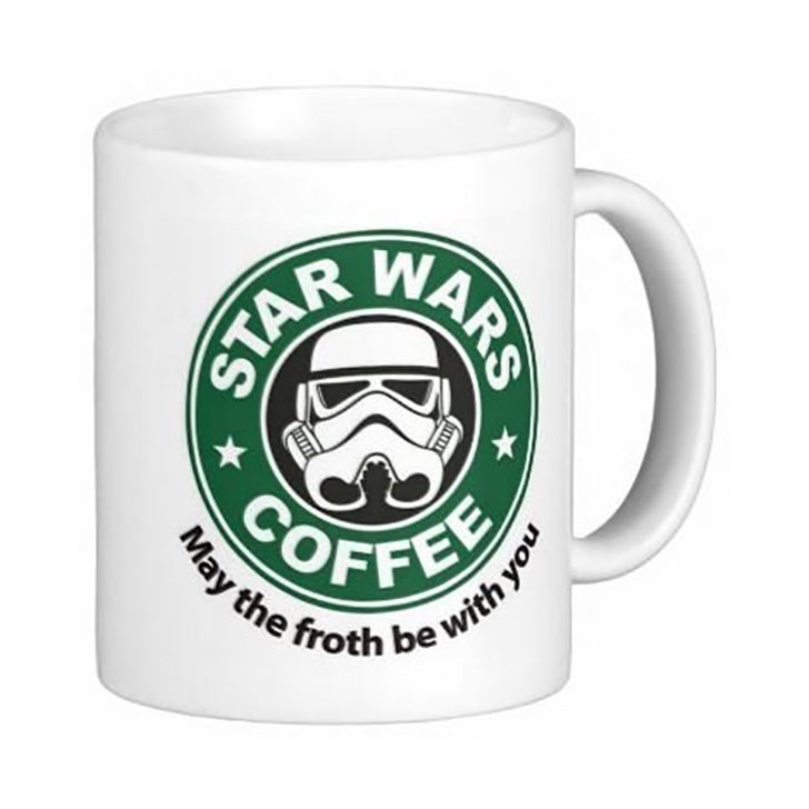 Star Wars May The Froth Be With You Stormtrooper Starbucks Style 11 oz. Coffee Mug