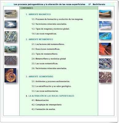 Los procesos petrogenéticos Unidad del proyecto Biosfera Biología y Geología de 1º de Bachillerato
