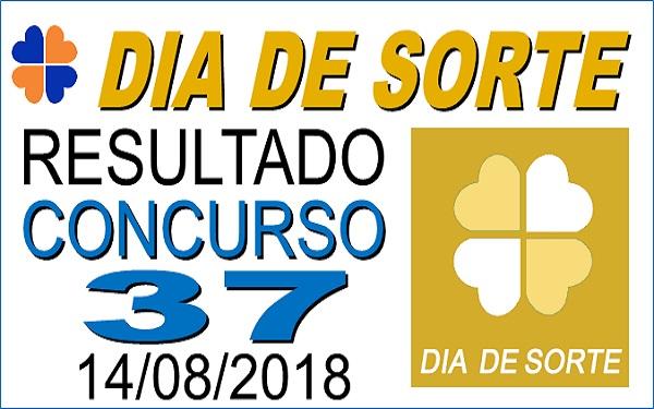 Resultado do Dia de Sorte concurso 37 de 14/08/2018 (Imagem: Informe Notícias)