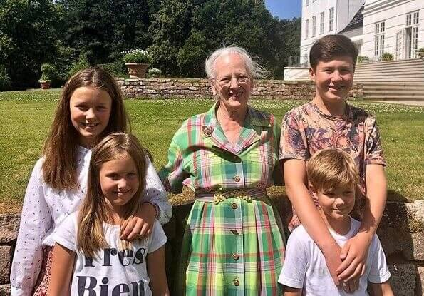 Queen Margrethe, Prince Christian, Princess Isabella, Prince Vincent, Princess Josephine