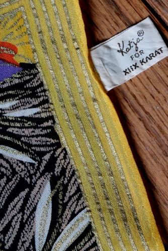 vintage Katja XIIX  KARAT silk scarf