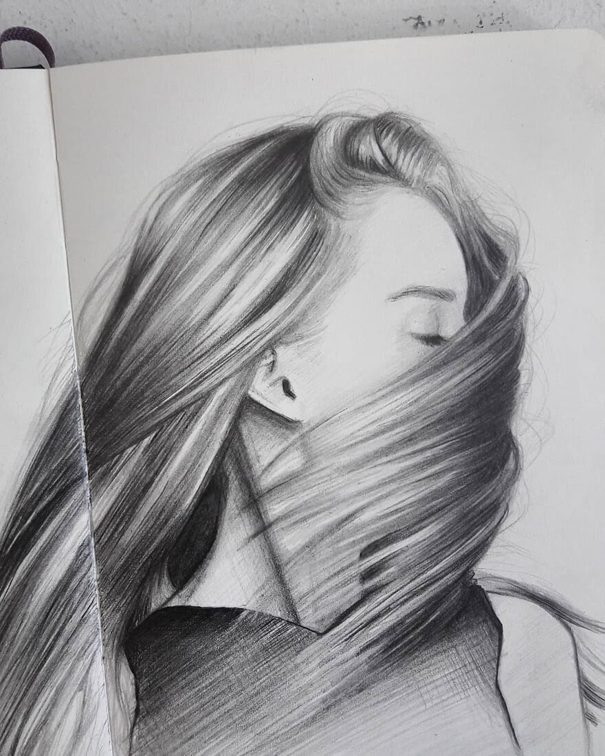 13-S-Mutlu-Hair-Study-Portrait-Drawings-www-designstack-co