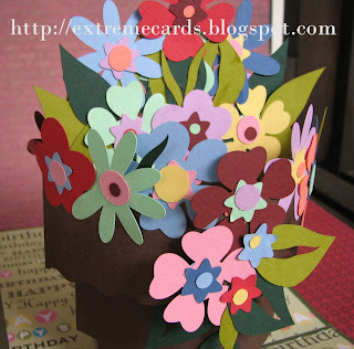 flowerpot pop up card construction