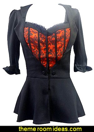 Lolita Sweetheart Bustier Top, Blouse or Mock Jacket