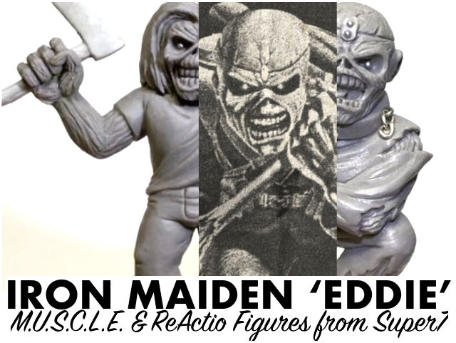"54df5e256adae Iron Maiden's ""EDDIE"" as M.U.S.C.L.E. & ReAction figures coming from Super7!"