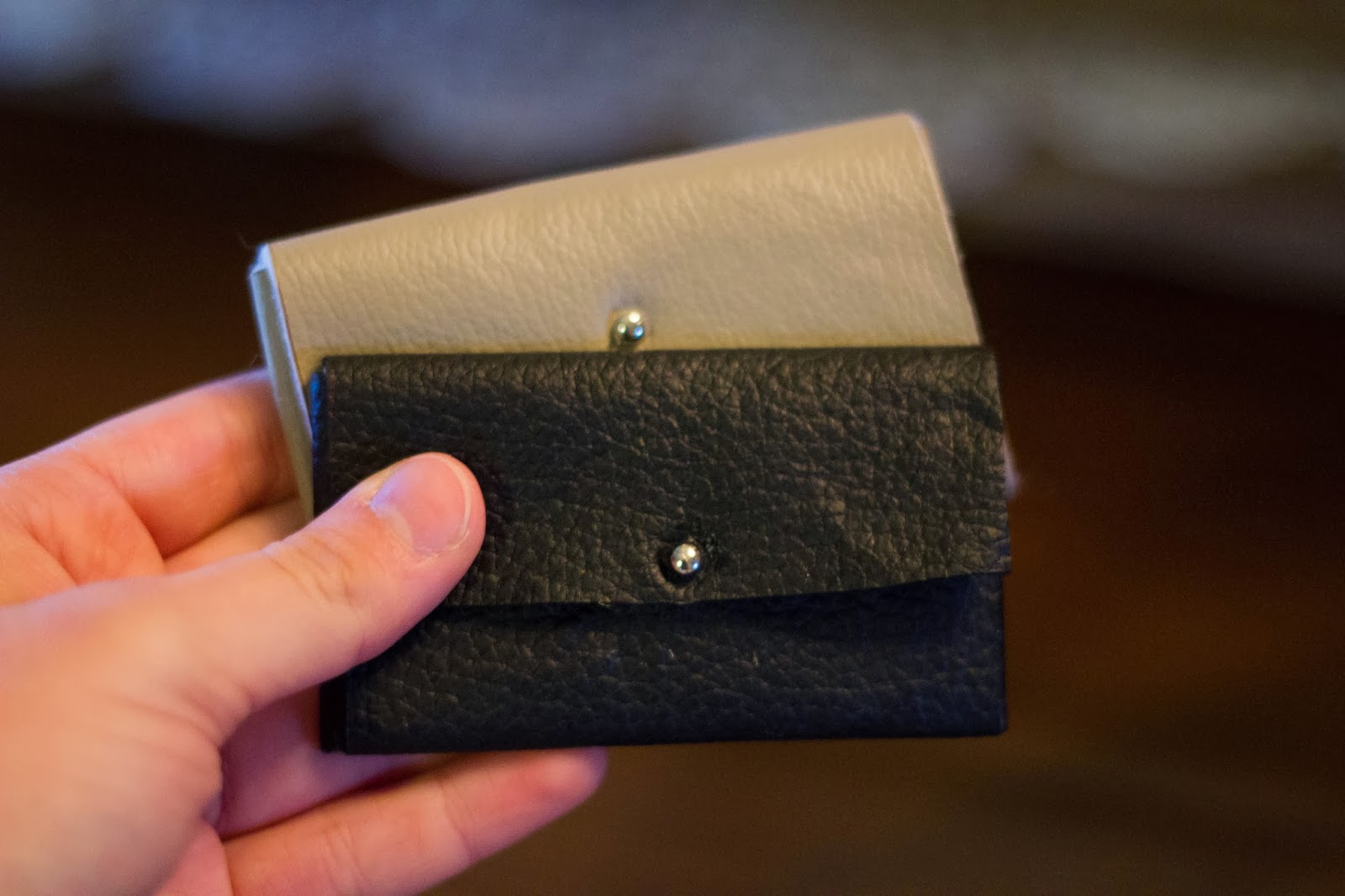 diy leather business card holder
