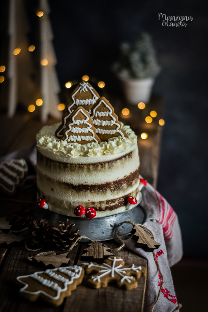 Tarta de pan de jengibre. Receta de Navidad