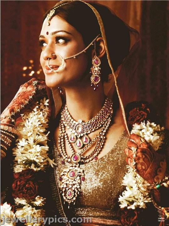 Punjabi Bridal Jewellery By Tanishq Uncut Diamond Necklace