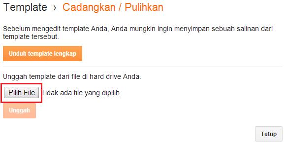 klik pilih file