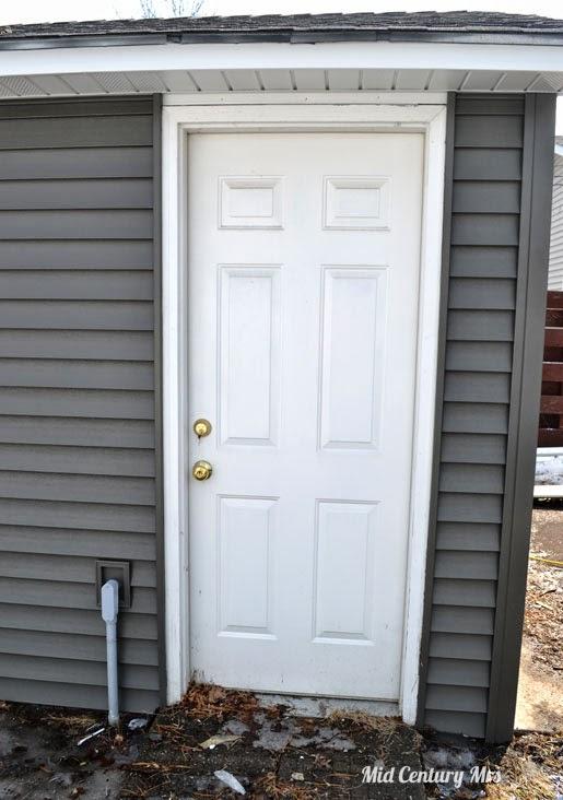 Mid Century Mrs: Garage Service Door Hardware.