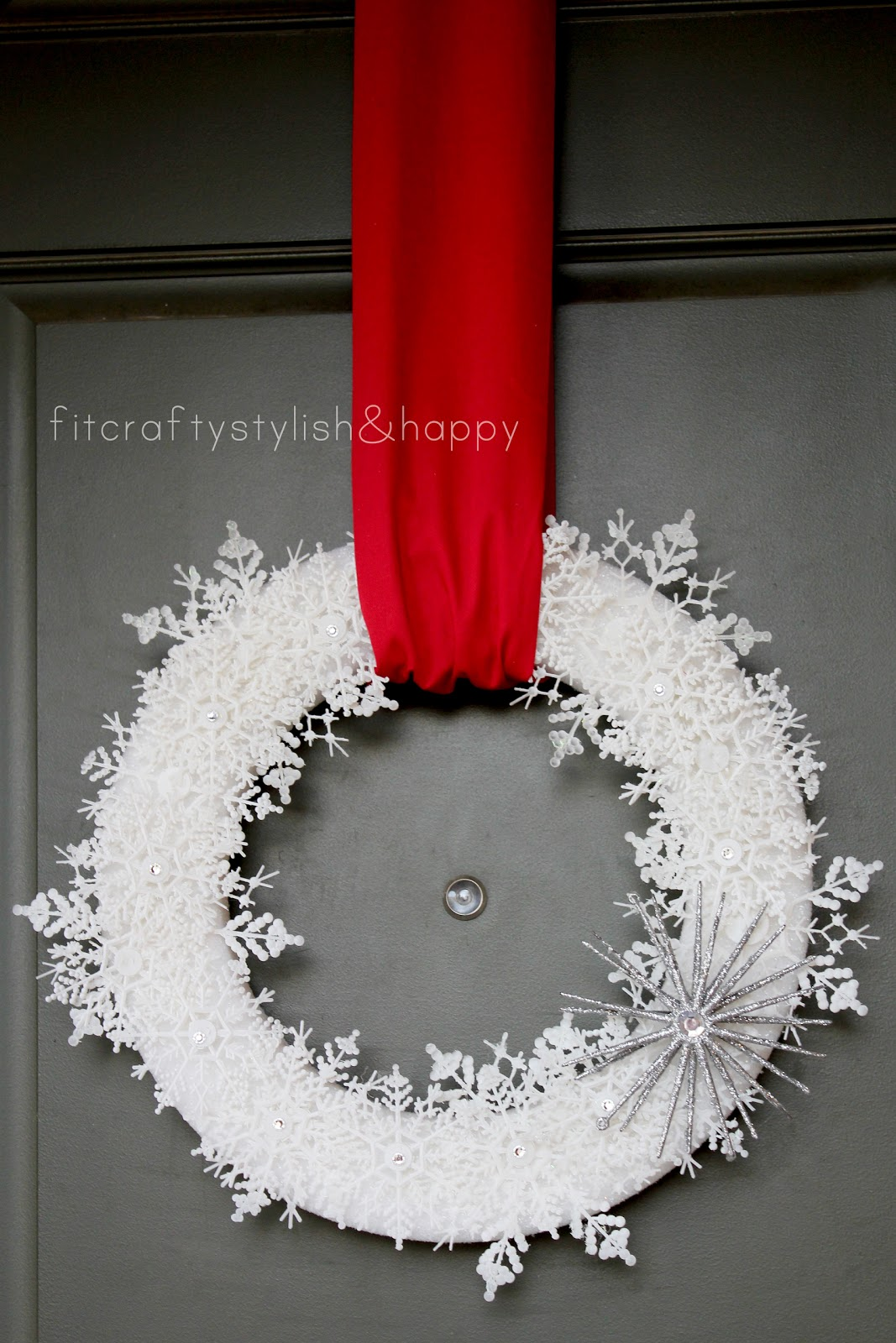 Fit Crafty Stylish And Happy Snowflake Wreath