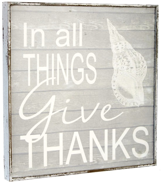 Thanks Giving Beach Plaque Sign