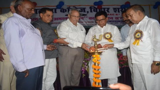 शिक्षा मंत्री ने  नालंदा कॉलेज में अमरनाथ भवन का किया उद्धघाटन