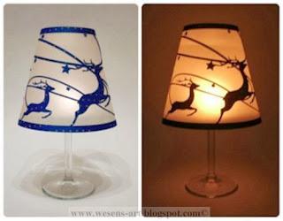 WineglassLampshadeReindeer03 by wesens-art