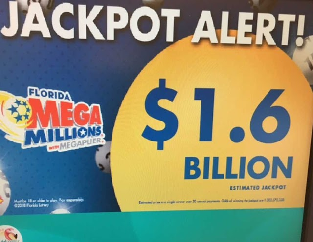 #USLocal :With No Winner, US Mega Millions Jackpot Rises To Record $1.6 billion